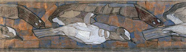 Н.К.Рерих. Чайки [эскиз для фриза]. 1901
